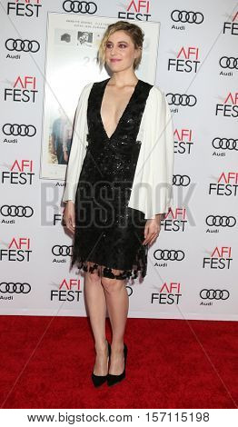 LOS ANGELES - NOV 16:  Greta Gerwig at the A Tribute To Annette Bening And Gala Screening of