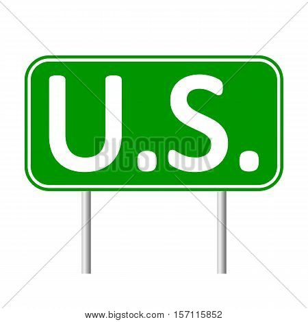 U.S. road sign isolated on white background