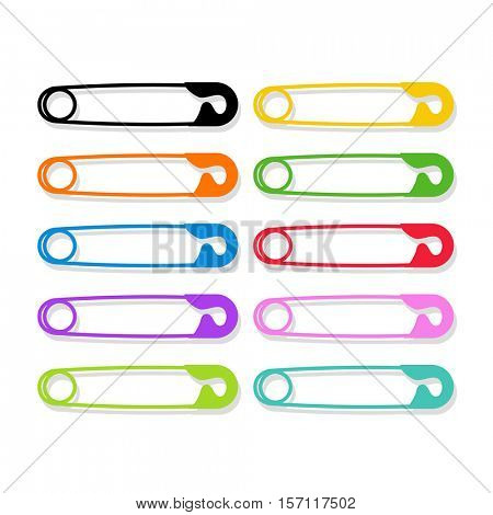 colored safety pins as a symbol of solidarity and human rights poster