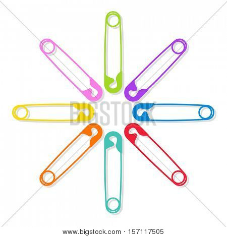colored safety pins as a symbol of solidarity and human rights