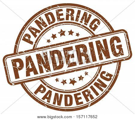 pandering. stamp. square. grunge. vintage. isolated. sign