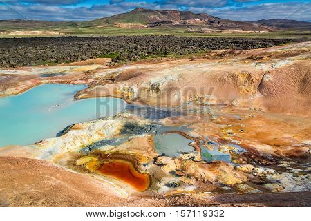 Colorful Ground Full Of Minerals On Volcanic Mountain, Iceland