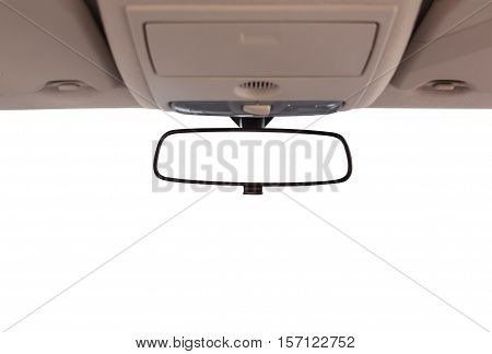 Car rear view mirror inside the car.
