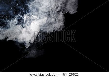 Abstract smoke Weipa. Personal vaporisers fragrant steam. Alternative non-nicotine smoking. Smoke on a black background. E-cigarette. Evaporator. Taking Close-up. Veyping.