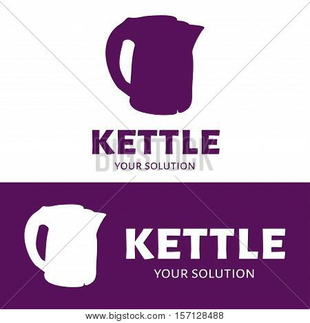 Vector logo kettle. Brand's logo in the form of a kettle.