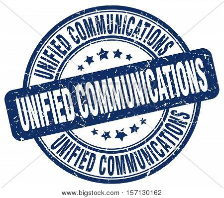 unified communications. stamp. square. grunge. vintage. isolated. sign