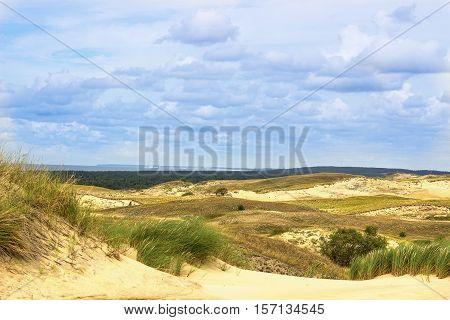 View of Dead Dunes Nida Klaipeda Lithuania.