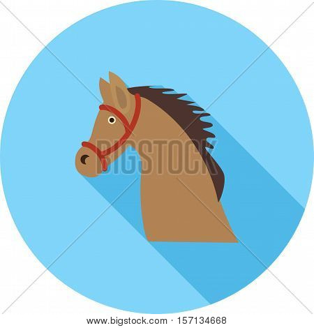 Cowboy, wild, horse icon vector image. Can also be used for wild west. Suitable for mobile apps, web apps and print media.