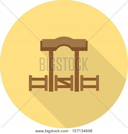 Ranch, cowboy, wild icon vector image. Can also be used for wild west. Suitable for mobile apps, web apps and print media.