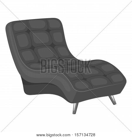 Vector black armchair isolated on a white background.