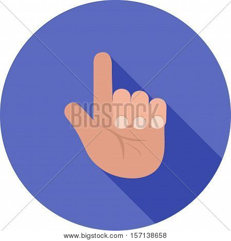 Finger, praying, tashahhud icon vector image. Can also be used for islamic. Suitable for mobile apps, web apps and print media.