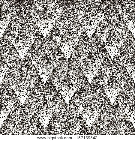 Dotted vector seamless geometric patter a white background. Halftone effect.