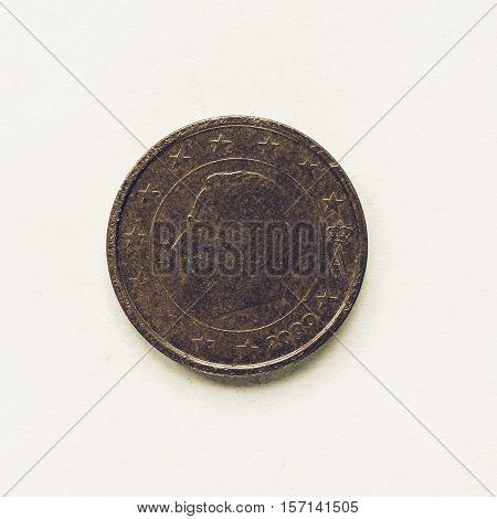 Vintage Belgian 2 Cent Coin