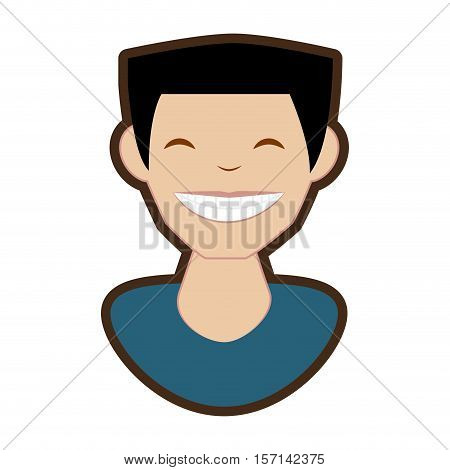 man smile character icon vector illustration design