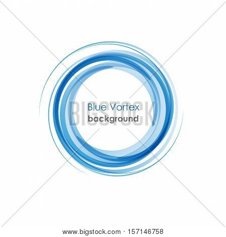 vector logo Blue Vortex background in abstract shape