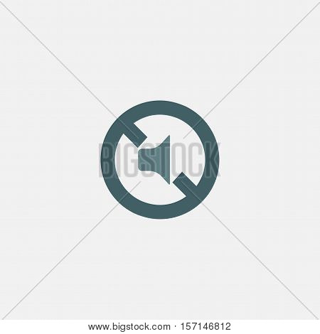 mute icon vector isolated on white background. mute volume vector icon