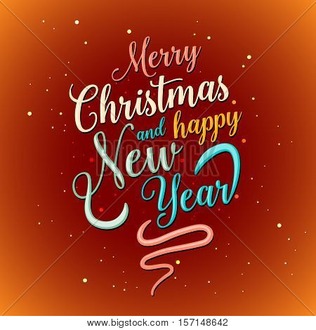 Merry Christmas Hy Vector Photo Free Trial Stock