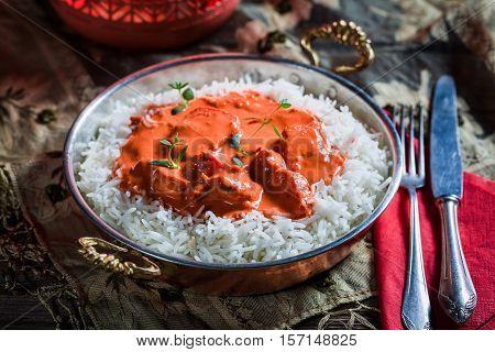 Tasty Tikka Masala With Rice And Chicken