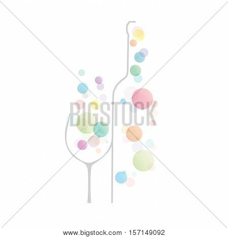 Vector abstract sign wine and fizzy water