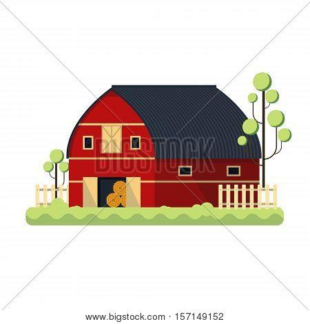 minimalistic illustration of a barn, eps10 vector