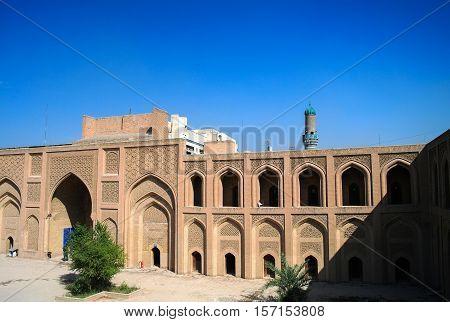 Exterior of famous Al-Mustansiriya University and Madrasah Baghdad Iraq