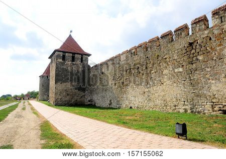 Old fortress on the river Dniester in town Bender Transnistria. City within the borders of Moldova under of the control unrecognized Transnistria Republic