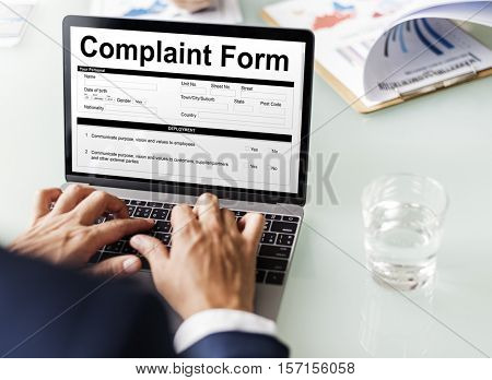 Complaint Form Customer Response Concept