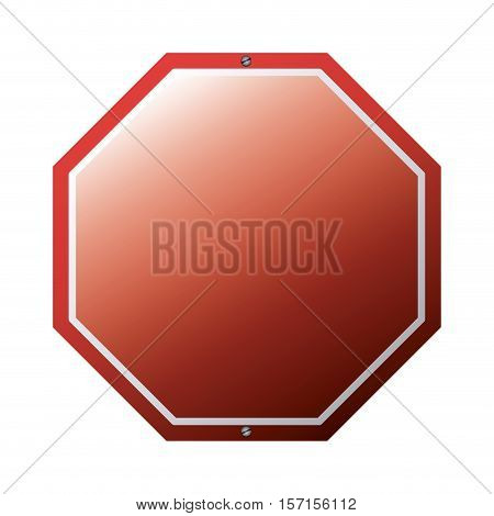 red road sign icon. Street information warning and guide theme. Isolated design. Vector illustration