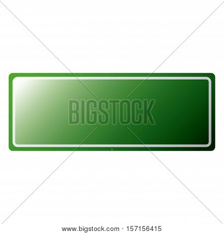 Green road sign icon. Street information warning and guide theme. Isolated design. Vector illustration