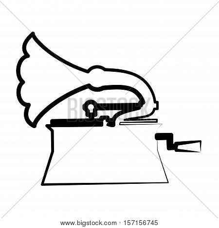 gramophone drawing isolated icon vector illustration design
