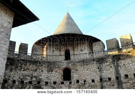 Architectural details of medieval fort in Soroca Republic of Moldova.