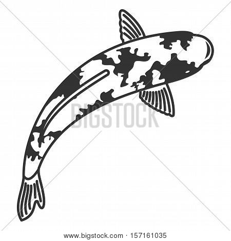 Vector Illustration Japanese Carps