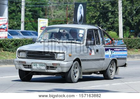 CHIANG MAI THAILAND - OCTOBER 27 2016: Private car Mazda Family mini Pick up truck. On road no.1001 8 km from Chiangmai Business Area.