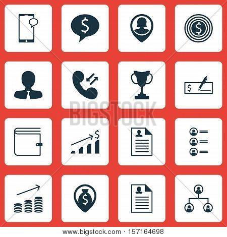Set Of Hr Icons On Money Navigation, Coins Growth And Manager Topics. Editable Vector Illustration.