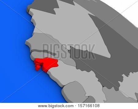 Guinea-bissau In Red