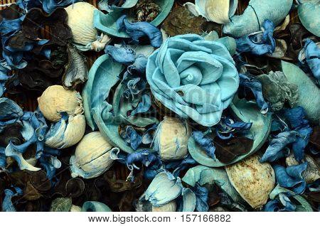 Blue Potpourri Background