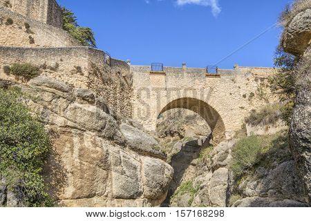 Puente Viejo bridge in Ronda Andalusia Spain