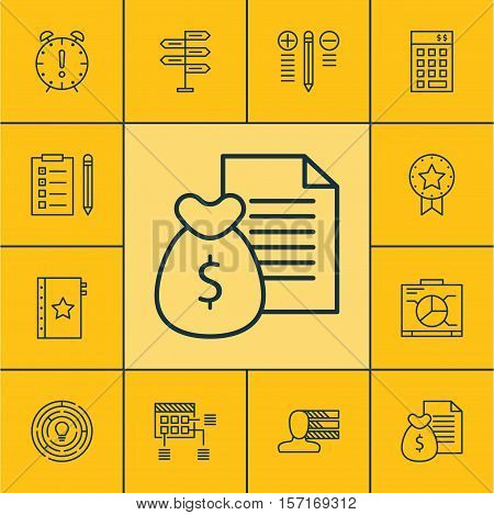 Set Of Project Management Icons On Schedule, Report And Time Management Topics. Editable Vector Illu