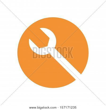 wrench tool isolated icon vector illustration design