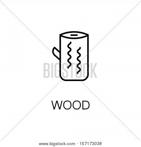 Wood flat icon. Single high quality outline symbol of camping for web design or mobile app. Thin line signs of wood for design logo, visit card, etc. Outline pictogram of wood