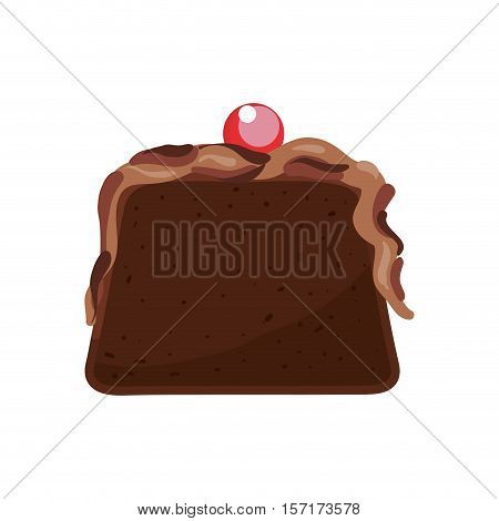 delicious cake dessert icon vector illustration graphic design