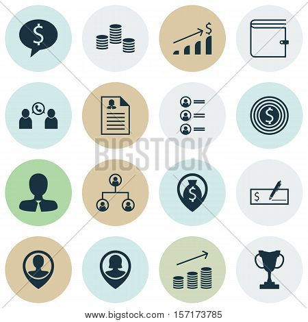 Set Of Hr Icons On Business Deal, Business Goal And Pin Employee Topics. Editable Vector Illustratio