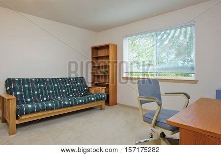 Simply Furnished Home Office Interior