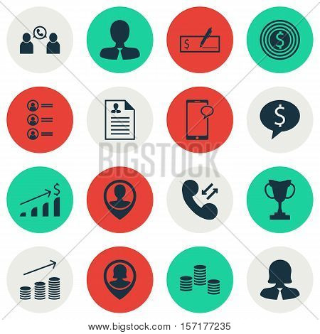 Set Of Human Resources Icons On Bank Payment, Successful Investment And Job Applicants Topics. Edita