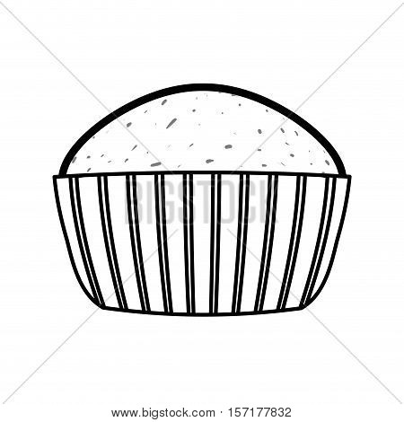 delicious cupcake dessert icon vector illustration graphic design