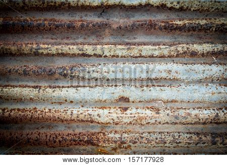 Corrugated rusty metal for background, corrugated  galvanize background