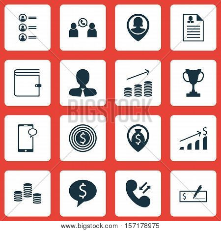Set Of Human Resources Icons On Successful Investment, Coins Growth And Money Navigation Topics. Edi