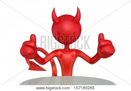 Devil Character 3D Illustration