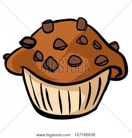 chocolate chip muffin cartoon