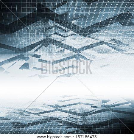 Abstract Blue Digital Background, High-tech